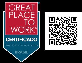 Certificado Great Place To Work - Melhores Empresas para Trabalhar.